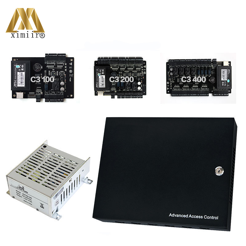 C3 seriers One ,Two, Four Door Access Control Board Smart Card 125KHZ RFID Card Access Control Panel With Power Supply Matel Box