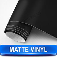 Made In China Matte Black Vinil Car Wrap Film Bubble Free Car Styling Installation Free Shipping