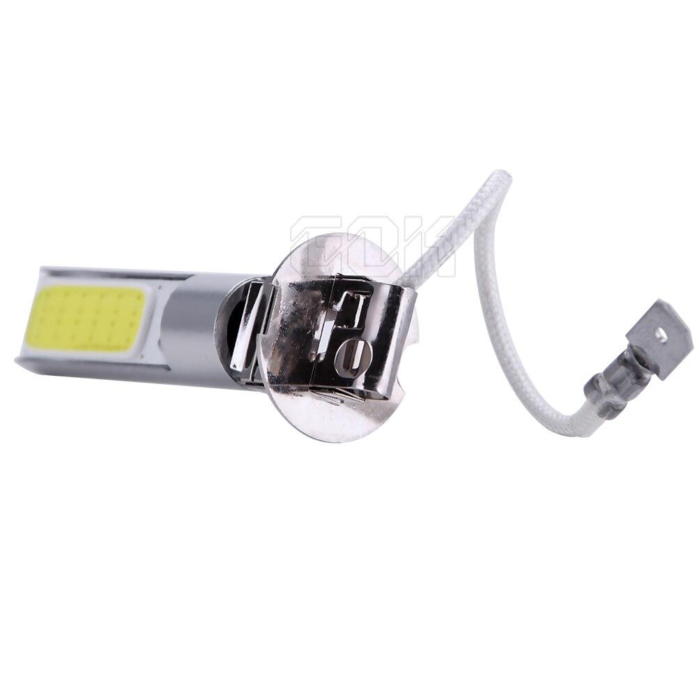 10 шт. H3 led 20 Вт cob h1 h3 880 881 супер яркий светодиодный Автомобильный светодиодный фонарь переднего светодиодные фары высокой Мощность свет Противотуманные лампы 12 v