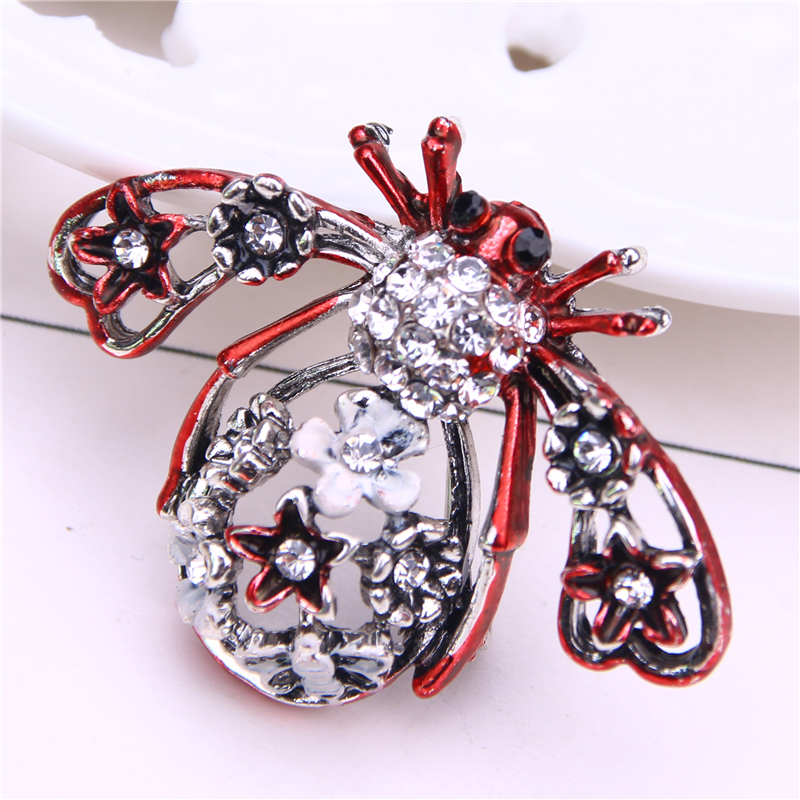 rhinestone dragonfly pin brooch gifts brooches for women insect metalico