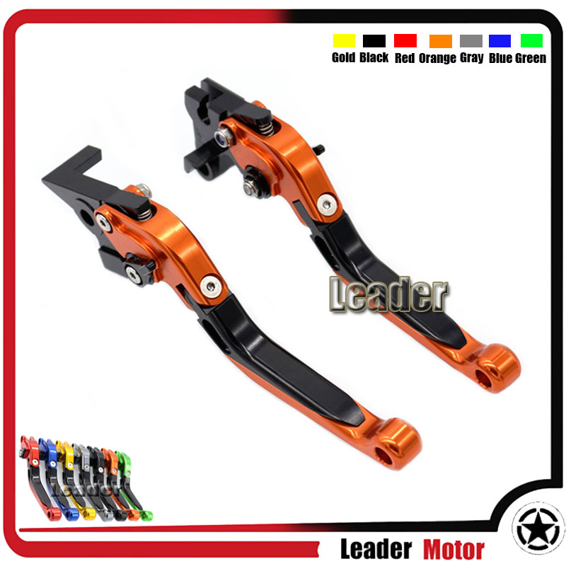 ФОТО Motorcycle Aluminum Folding Extendable Brake Clutch Levers For YAMAHA XSR 700 ABS XSR 900 ABS XV 950 Racer Orange