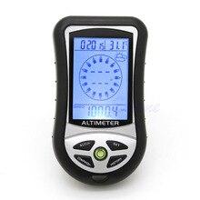 Digital 8 in 1 LCD Compass Barometer Altimeter Thermo Temperature Clock Calendar  8in1 digital altimeter+ Lanyards