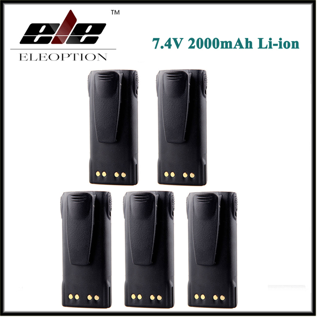 motorola 7 4v lithium ion battery. 5 pcs 7.4v 2000mah li-ion battery for motorola ht750 ht1225 gp320 gp340 pr860 motorola 7 4v lithium ion v
