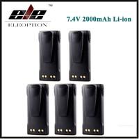 5 PCS 7 4V 2000MAH Li Ion Battery For MOTOROLA HT750 HT1225 GP320 GP340 PR860 PRO7150