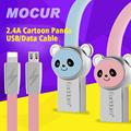 Panda Micro USB Cable 1M Micro USB Cables TPE 2.4A Fast Charging Data Sync For iPhone&Samsung Xiaomi Huawei Meizu LG Android