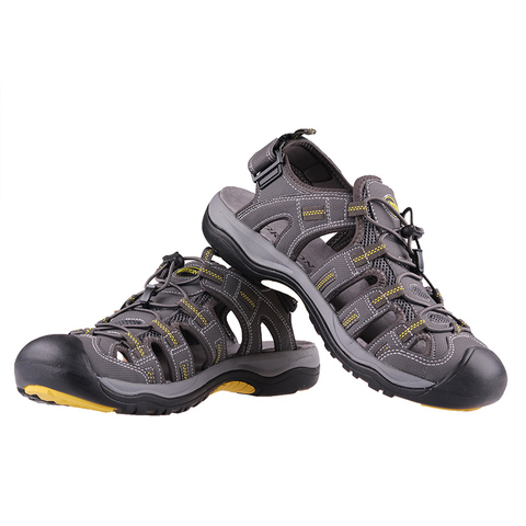 GRITION Mens Outdoor Sandals Summer Breathable Flat Sole Beach Shoes Outdoor Soft Walking Hiking Sandals Athletic Men Shoes Islamabad