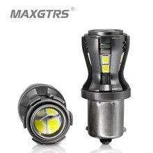 2x BA15S P21W светодиодный лампы S25 1156 1141 7506 R5W 2835 Чип-проектор для заднего тормоза задние указатели поворота автомобильная лампа