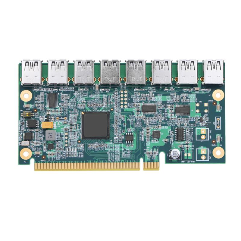 Motherboard PCI Express 1 to 8 Mining Riser Card PCI-E x16 Data Graphics SATA to 8Pin Adapter Card for BTC Miner mining Board раковина sanita luxe next 60 f01