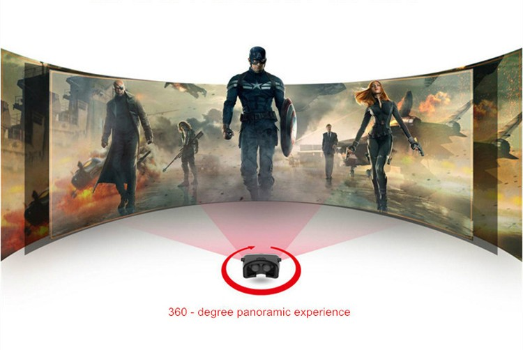 VR Shinecon 3D VR Glasses Video Box Headset Google Cardboard 2.0  for  4.0-5.56.0 inch Smartphone+Phone Bluetooth Controller (4)