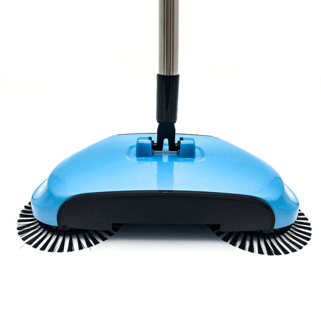 Stainless Steel Sweeping Machine Push Type Hand Push Magic Broom Dustpan Handle Household Cleaning Package Hand Push