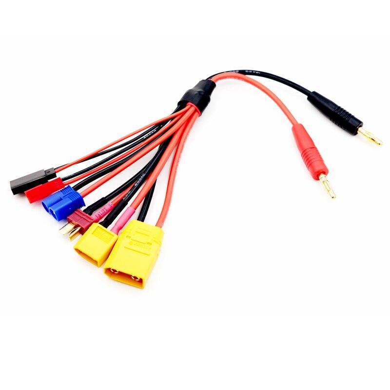 4mm Banana Connector to XT60/ XT90/ JST/T plug/ Futaba/ EC3 conenctos