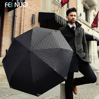 Commercial Embossed Automatic Umbrellas Male Umbrella 3 Folding Umbrella Men Personality 3 Folded Black Blue Umbrella