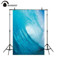 Allenjoy studio photography backgrounds surf big wave blue ocean billow Summer photo backdrop photocall camera photobooth