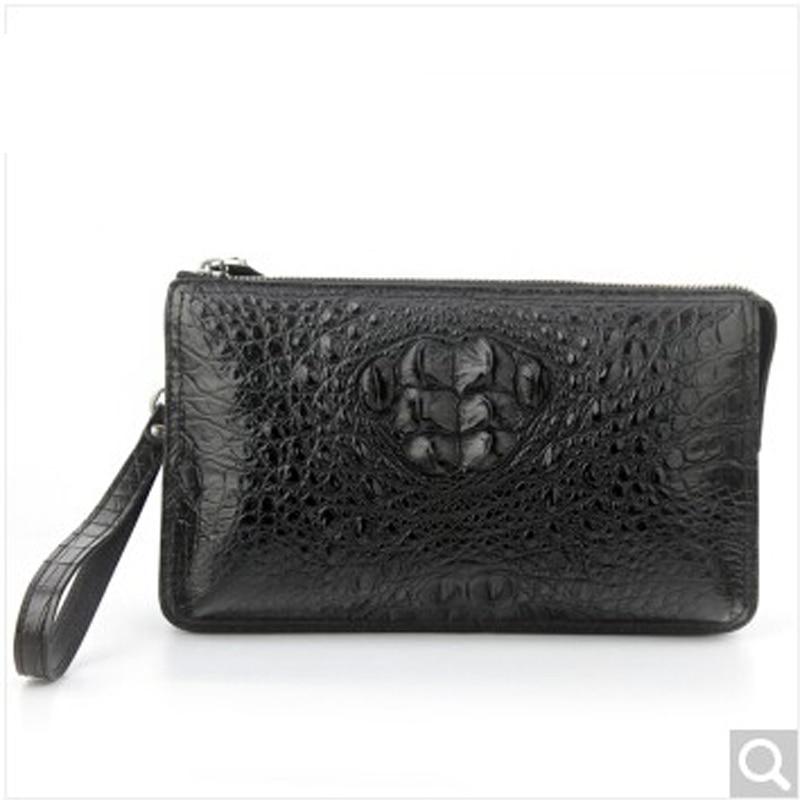 Luolaini Alligator Leather Men Handbag Private Custom Skull Making Business Fashion Man Hand Bag Clutch On Aliexpress Alibaba