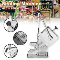Food Sealers Packing Sealing Machine Manual Ham Sausage Knotting Sealing Machine Supermarket + U shape Clips