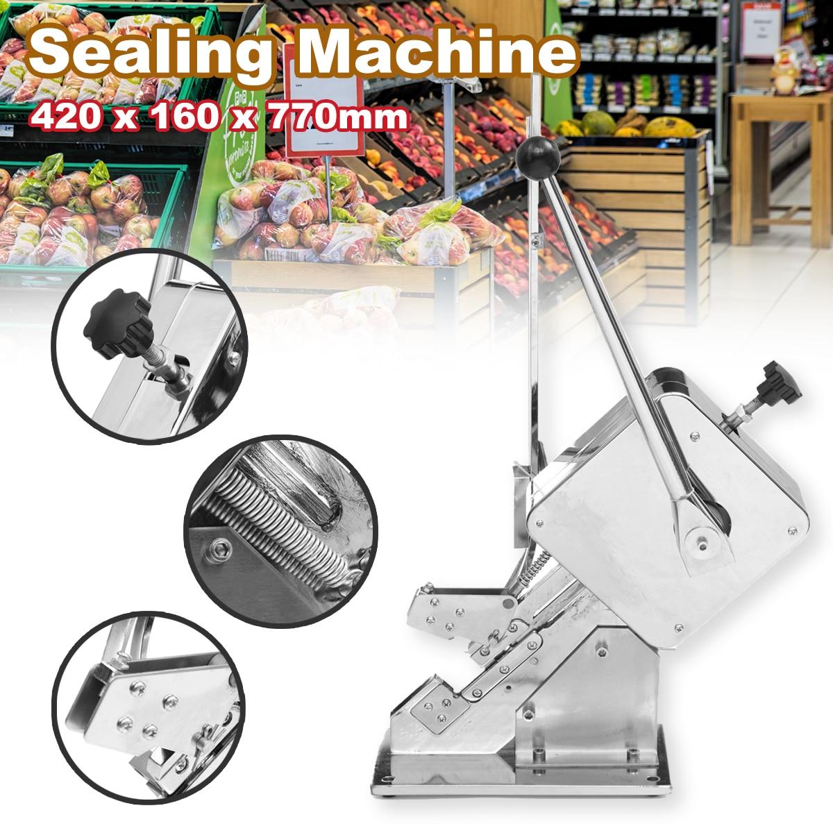 Aferidores de alimentos máquina de selagem de embalagem manual presunto salsicha knotting máquina de selagem supermercado + u-forma clipes