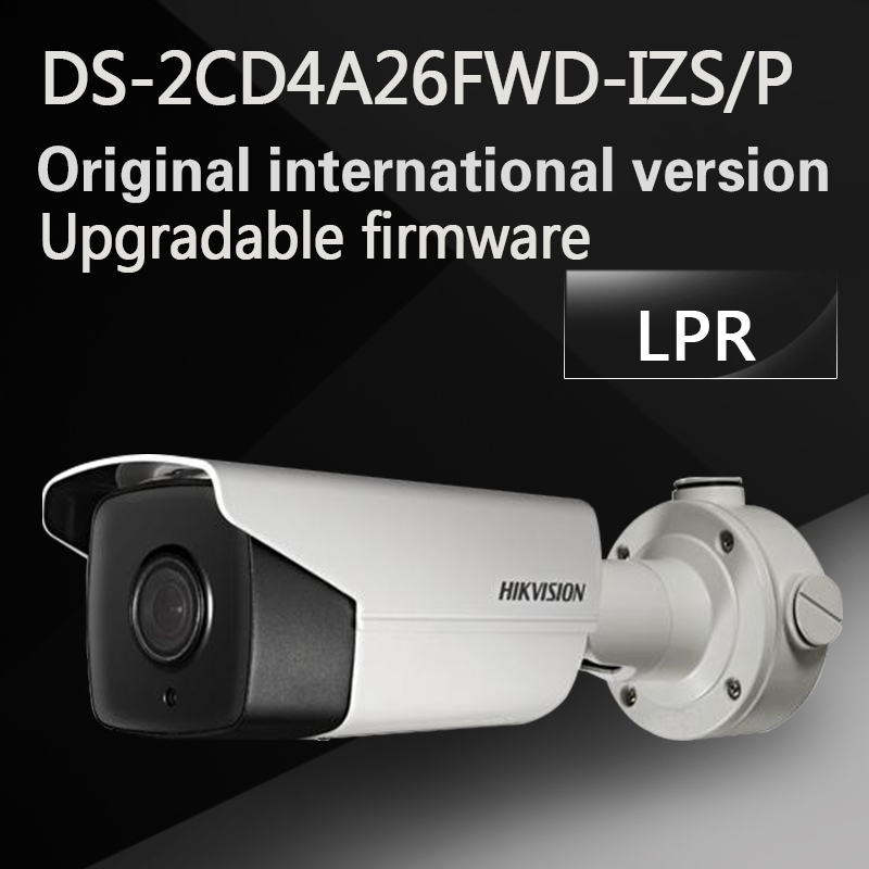 Free shipping English version DS-2CD4A26FWD-IZS/P 2MP ANPR Ultra-Low Light Bullet CCTV Camera LPR IP67