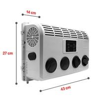 Aire acondicionado automático 12V 24 V  aire acondicionado eléctrico para camión  control remoto de coche  conversión de frecuencia inteligente