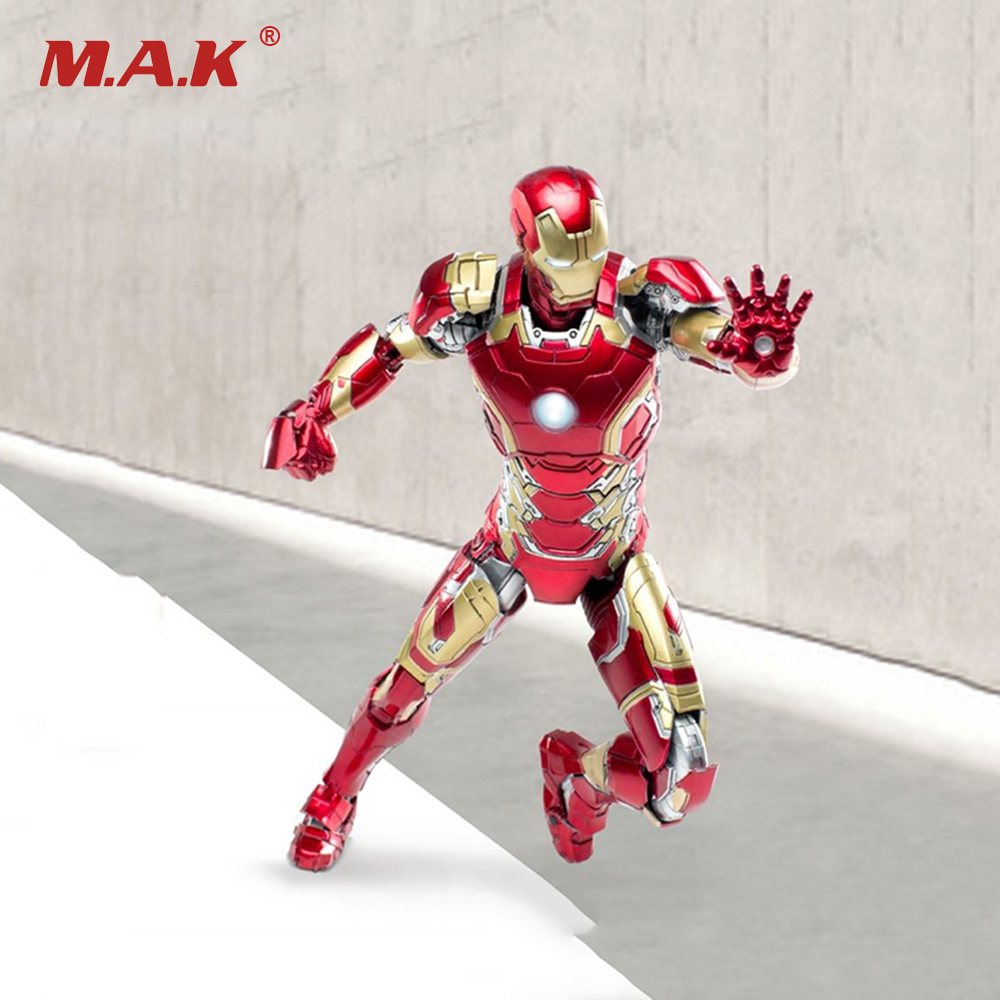 The Avangers Iron Man MK43 Full Set Action Figures 1/12 Scale Movable Models Boys Toys LED Functions 12pcs set children kids toys gift mini figures toys little pet animal cat dog lps action figures