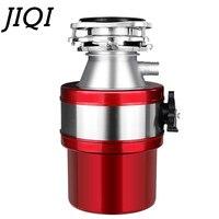 JIQI 370 واط المطبخ الغذاء النفايات المتخلص مع مفتاح الهواء القمامة المعالج التخلص محطم طاحونة حوض الفولاذ المقاوم للصدأ الأجهزة-في معالج فضلات الطعام من الأجهزة المنزلية على