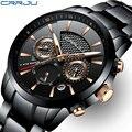Часы CRRJU  спортивные  водонепроницаемые  кварцевые  полностью стальные