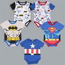 Superman Cotton Children Girls T shirt Baby Boys Girls Tops hero Short sleeves Triangle Package Fart