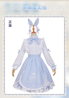 Amine Chaude Jeu Miracle Nikki Blanc Bunny Girl Cosplay Costume Mignon Lolita Robe Quotidienne Femme Fille Vêtements