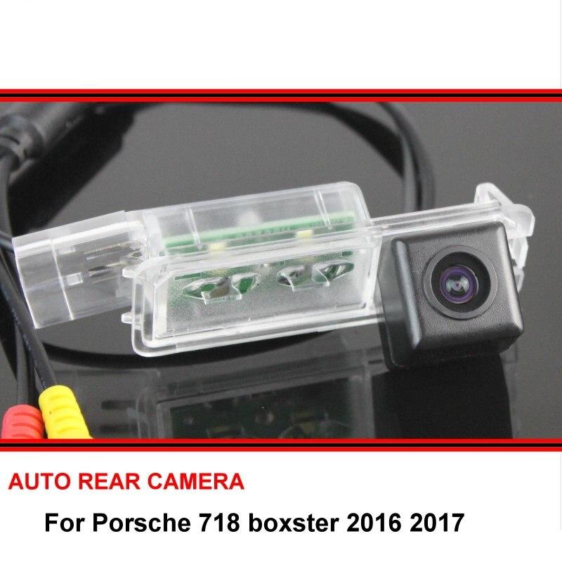 Para 718 Porsche boxster 2016 2017 cámara de visión trasera de coche cámara de aparcamiento trasera LED de visión nocturna a prueba de agua gran angular SONY