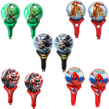 (20pcs/lot) foil balloons Avengers style hand cheering toy spiderman hulk ironman batman Captain America balloon