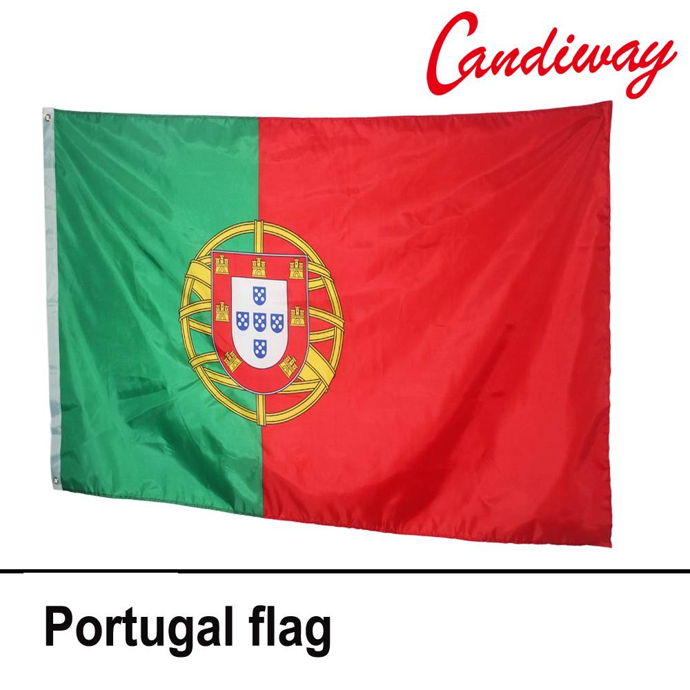 10pcs lot national flag country flag stick flags flag of the united - 90 X 150cm Portugal National Flag Hanging Flag Polyester Portugal National Flag Outdoor Indoor Big Flag