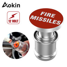 Aokin Car Cigarette Lighter Fire Missiles EJECT Button Replacement 12V Accessory Push Button for Most Automotive Vehicles(China)