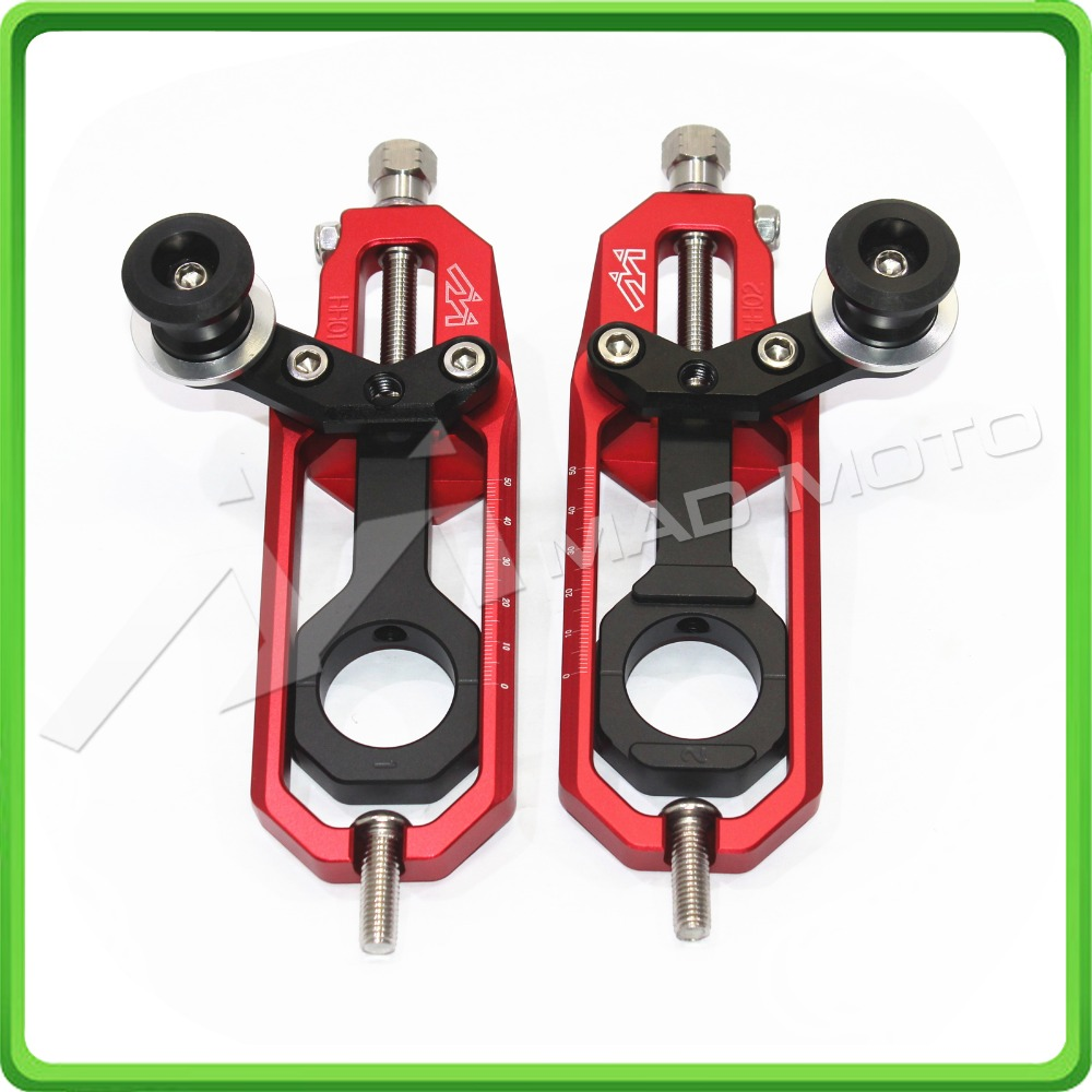 все цены на Motorcycle Chain Tensioner Adjuster with spool fit for Yamaha R1 YZF-R1 2007 2008 2009 2010 2011 2012 2013 2014 red&black color онлайн