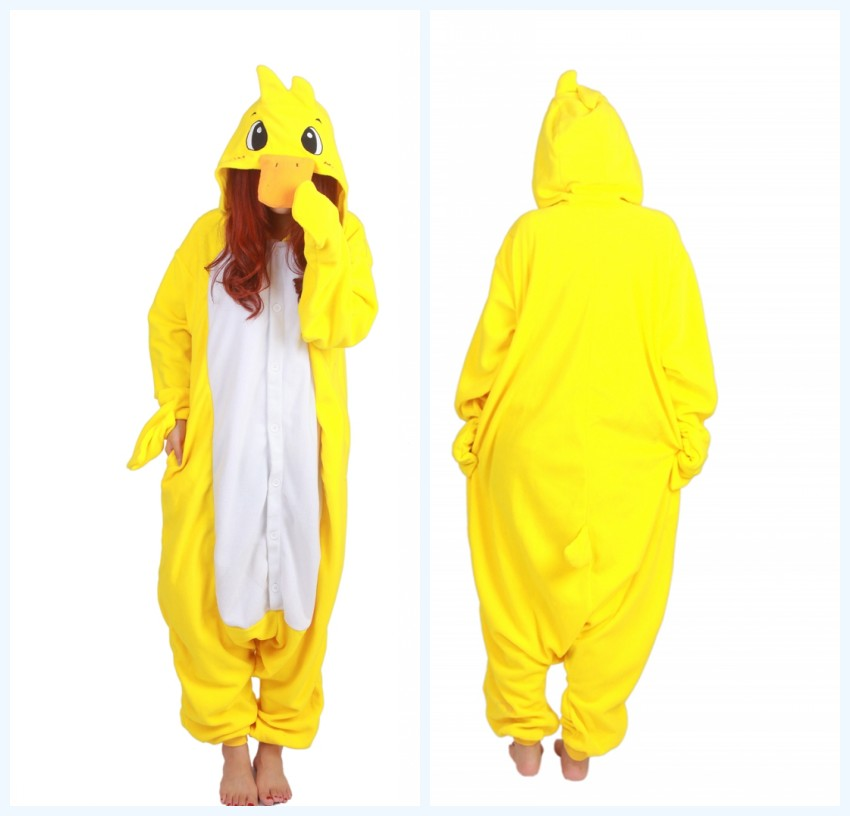 d71a03e9f86a NEW Costumes Pyjamas Duck Adult Women Men Cosplay Pajamas Winter Warm  Onesies Costumes One piece Sleepwear Anime Party Dress