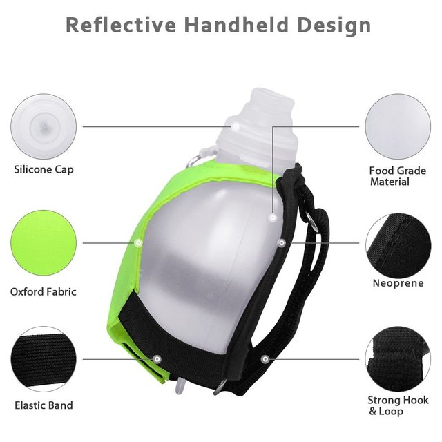 GeerTop Sports Water Bottle Portable Wrist Camping Water Bottle Hiking Drink Bag Outdoor Survival Equipment Hydration Pack Molle 2