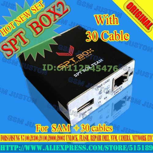 US $173 9 |gsmjustoncct SPT BOX2 Tool forSamsung  N7100,I9300,I9100,I9000,I9003 Unlock, Flash, Repair IMEI, NVM, Camera,  Network etc   -in Telecom
