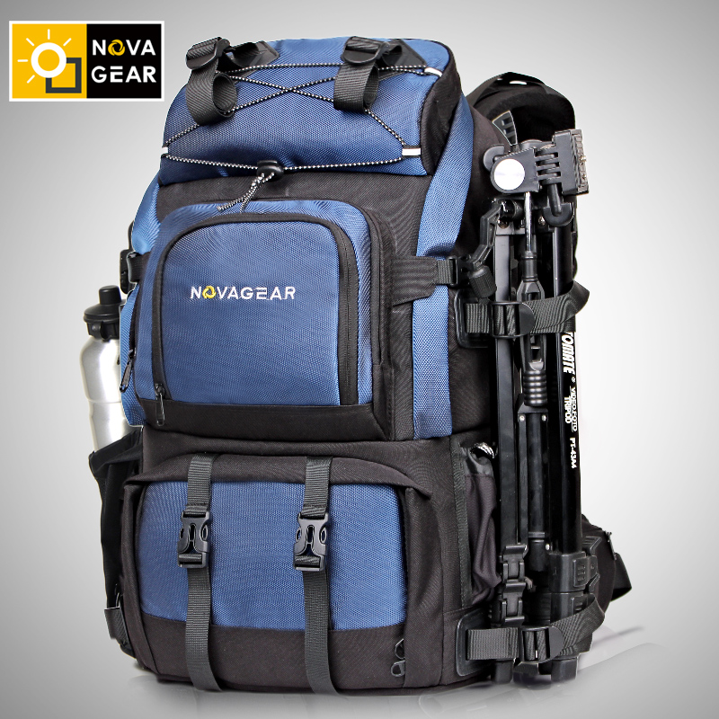 Competent Novagear Genuine Waterproof Shockproof Outdoor Large Capacity Slr Camera Bag 80302