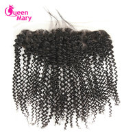Fashion Leader Brazilian Lace Frontal Closure 13 4 Non Remy Hair Kinky Curly With Baby