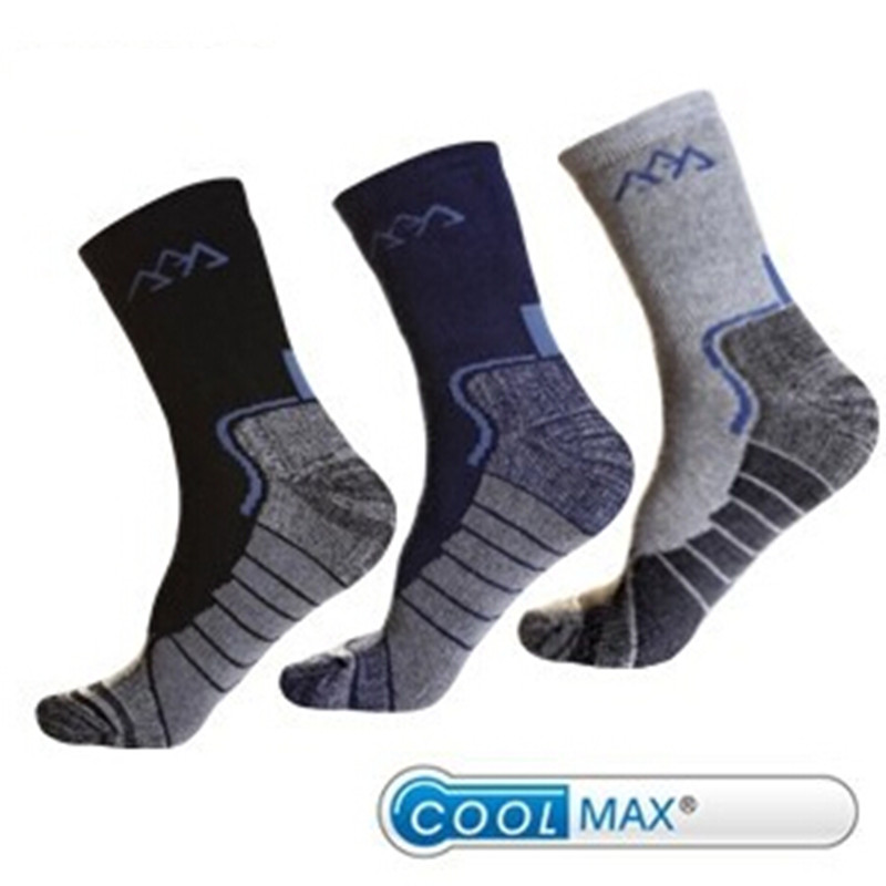 Winter Brand Mens Outdoor Hiking Socks Coolmax Quick Dry Trekking Mountaineering Skiing wool Socks For EU 39-44