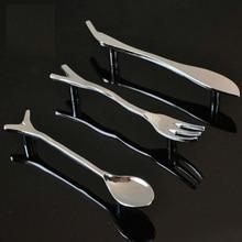 6 piezas moderno minimalista muebles creativos personalidad mango cuchillo y tenedor cuchara plata aparador manija de la puerta del armario
