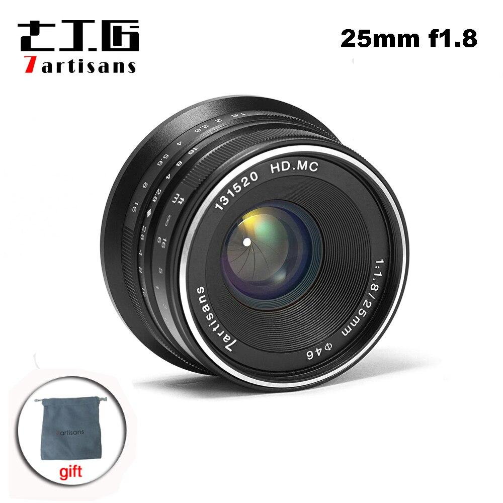 7 artisans 25mm F1.8 lentille principale Mise Au Point Manuelle pour E Montage Canon EOS-M Mout Micro 4/3 Caméras sony a6000 A7 A7II a7R PK yongnuo