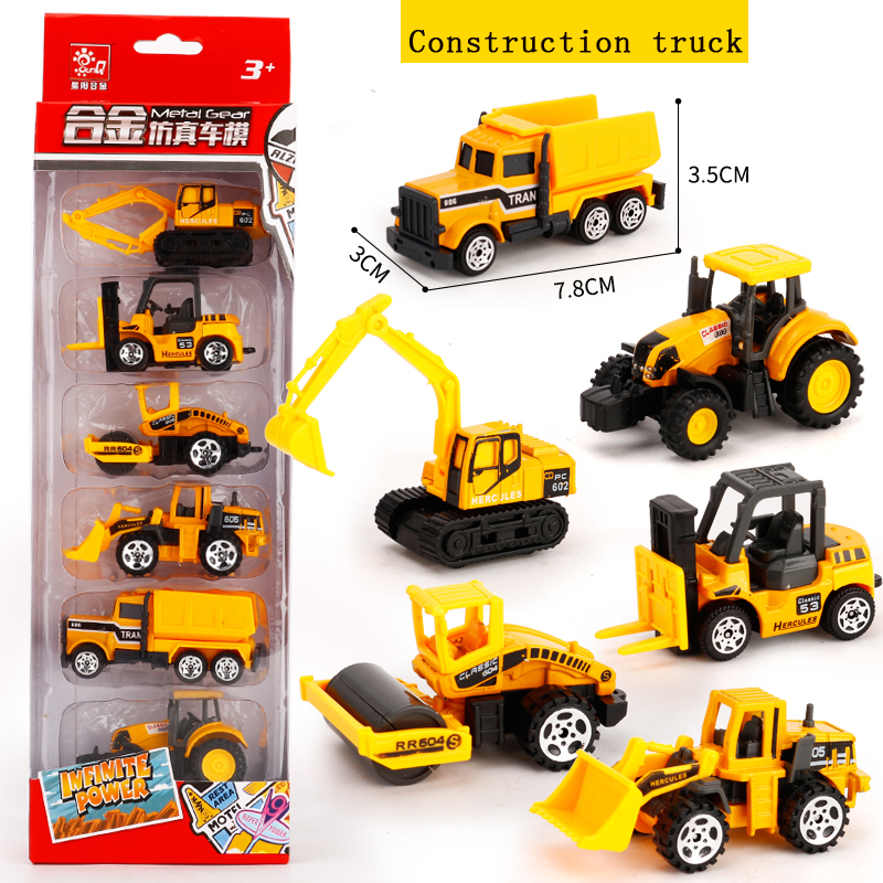 6PCS/lot Kids Toy Mini Sport Car Fire truck Model Toys Children Gifts 2018 Hot Hot Wheels Toys Boys and Girls Christmas
