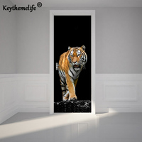 2 Pcs Set Ferocious Tiger Wall Stickers DIY Mural Bedroom Home Decor Poster PVC Waterproof Door