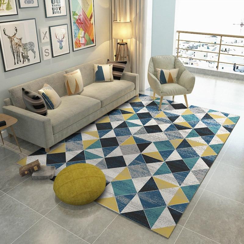 Nordic геометрический ковры для Гостиная Home Decor Спальня ковер современный Кофе столик ковер исследование мягкий коврик диван коврики
