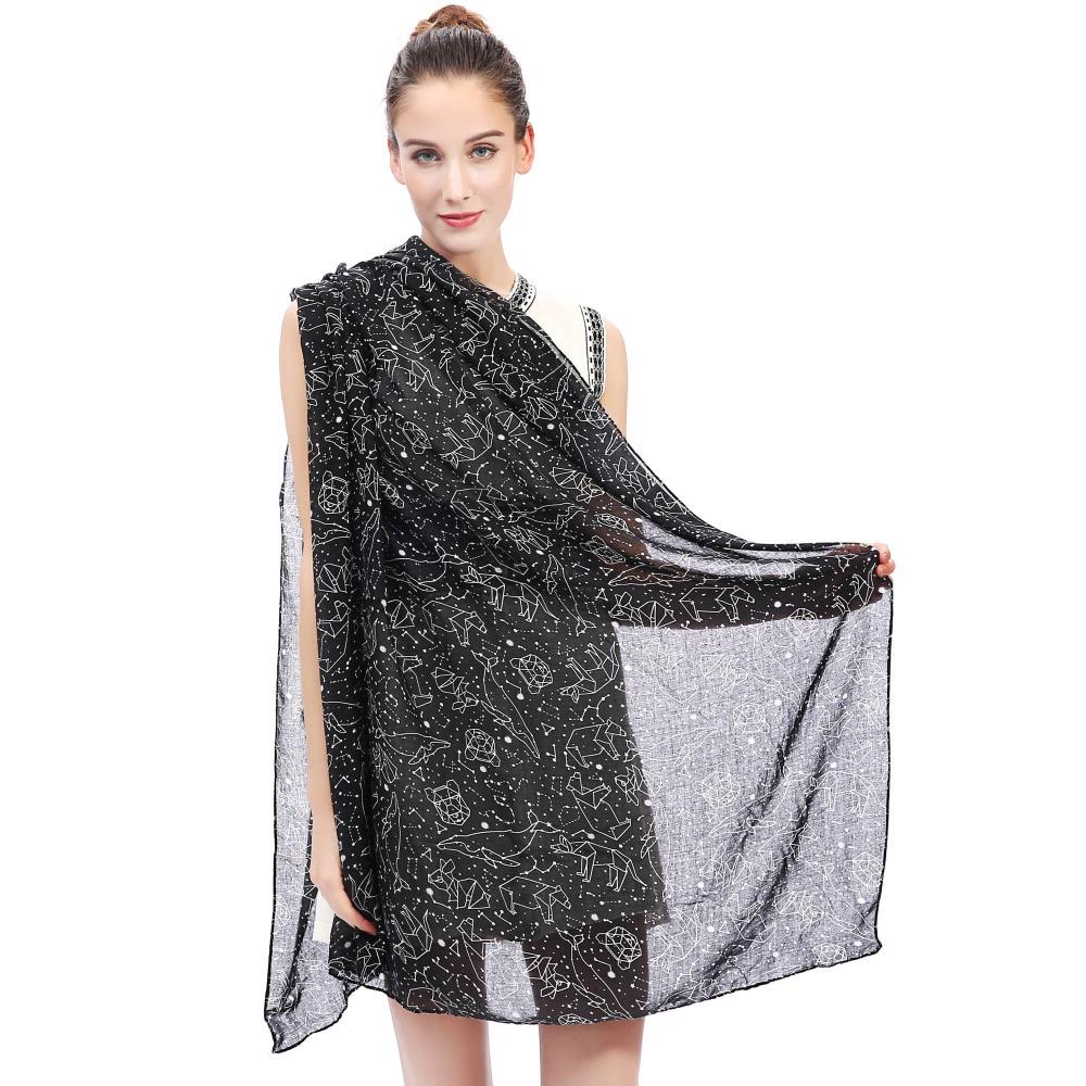 Constellation Étoiles Galaxy Imprimer Écharpe Enveloppe de Châle de Femmes  Doux Léger pour Toutes Les Saisons dans Foulards de Vêtements Accessoires  sur ... 7a1d818b785