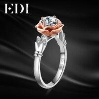 EDI уникальный лебедь розы 10 К Многотональная золото обручальное кольцо круглой огранки Имитация Алмазный крыло Форма Обручение кольцо ювел