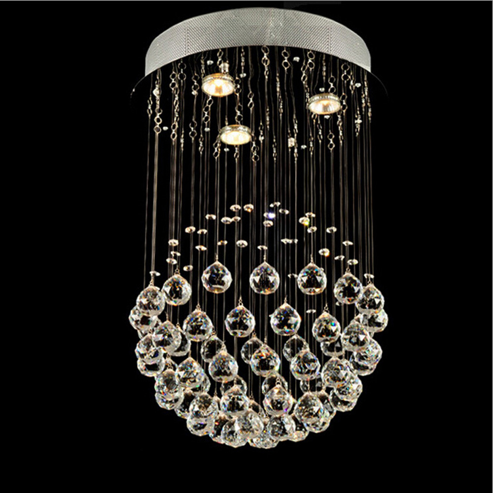 Modern single ball crystal lamp simple LED living room ceiling lighting creative bedroom dining room restaurant hanging lamps restaurant white chandelier glass crystal lamp chandeliers 6 pcs modern hanging lighting foyer living room bedroom art lighting