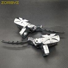 """ZORBYZ """" 25 мм хром крест Руль управления резервуар тормоза гидравлические рычаги сцепления для Harley Honda Yamaha мотоцикл"""