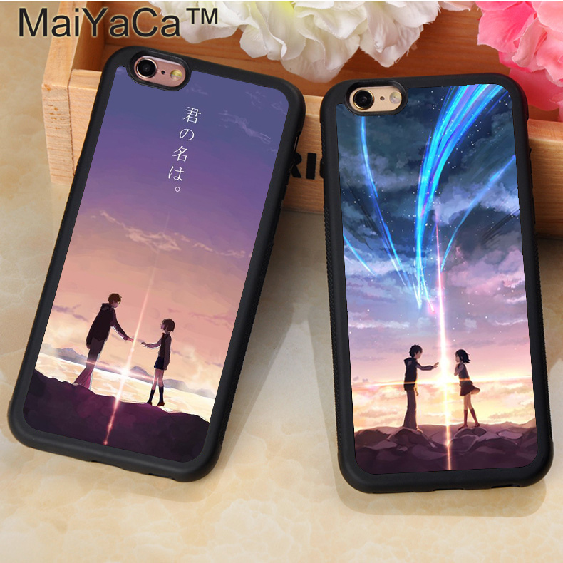 MaiYaCa Anime Your Name Kimi no Na wa Printed Soft Rubber Phone Case For Fundas iPhone 6S 7 8