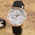 As crianças Assistem Moda Relógios Breve Geometria Simples Casual Relógios de Pulso de Quartzo de Couro Estudante Meninos Meninas Relógio Clássico Moderno