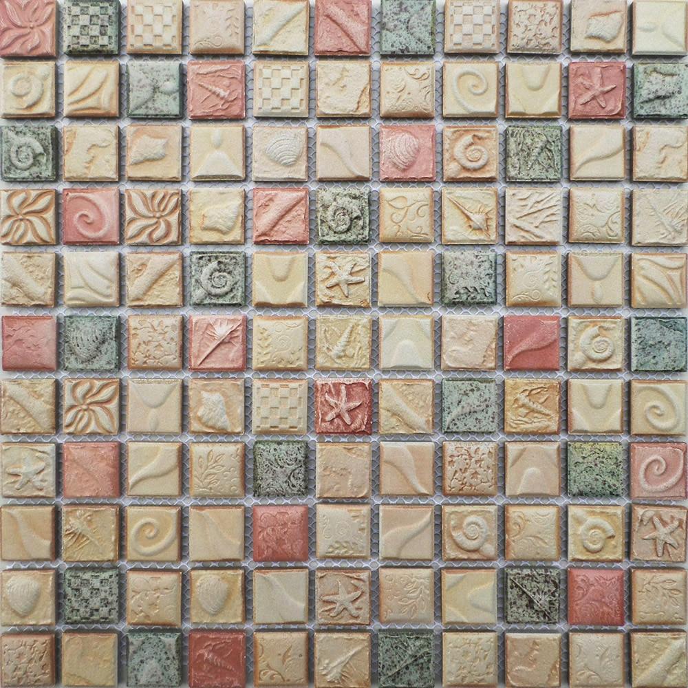Piastrella mosaico in ceramica in rilievo antico arte for Adesivi murali piastrelle